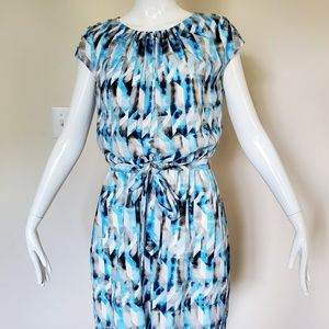 Guess Blue Geometric Blouson dress